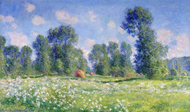 Claude Monet - Effect of Spring Giverny 1890 - (MeisterDrucke-259730)