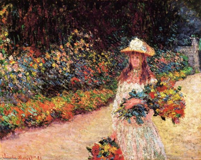 Claude-Oscar-Monet-Young-Girl-in-the-Garden-at-Giverny